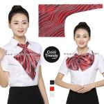 ผ้าพันคอสำเร็จรูป ผ้ายูนิฟอร์ม uniform ผ้าไหมซาติน : L25