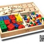 TY-1039 กระบะเกมไขน๊อตไม้