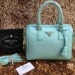 กระเป๋า Prada มาใหม่ ทรงหมอน งานสวย ขนาด 10 นิ้ว มีสายสะพายยาวพร้อมกุญแจล็อค ราคา 850 บาท สีฟ้า