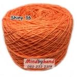ไหม Cotton Shiny รหัสสี 36 สีส้มแสด
