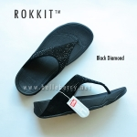 ** พร้อมส่ง ** fitflop Rokkit : Black Daimond Size US 9 / EU 41
