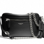 COACH LEGACY LEATHER FLIGHT BAG # 25362 สี BLACK
