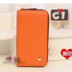 """""""พร้อมส่ง""""กระเป๋าใส่ iPhone แบบมงกุฎ ติดซิปรอบ -สีส้ม"""