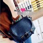 กระเป๋าแฟชั่น May i shop กระเป๋าถือน่ารักๆ มีสายสะพายให้ -สีดำ