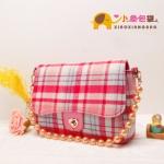 """""""พร้อมส่ง""""กระเป๋าแฟชั่นXiaoxiang กระเป๋าสะพายลายสก๊อตสีแดง สายมุก เก๋ค่ะ(มีตำหนิ กระเป๋าลอกค่ะ)"""