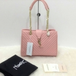 กระเป๋า YSL มาใหม่งานสวย แบบอั้ม-พัชราภาใช้ ขนาด 10 นิ้ว ราคา 900 บาท สีชมพู