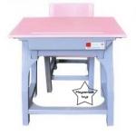 WHS-04 โต๊ะเก้าอี้สี่เหลี่ยมผืนผ้าสีหวาน ( 1 ชุดประกอบด้วย โต๊ะ 1 ตัว เก้าอี้ 1 ตัว)
