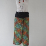 กางเกงผ้าไทยทรงชาวเลต่อหัวผ้าฝ้าย