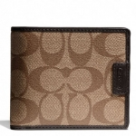 Coach Heritage Signature Compact ID Wallet # 74736