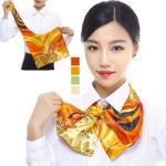 ผ้าพันคอสำเร็จรูป ผ้ายูนิฟอร์ม uniform ผ้าไหมซาติน : L53
