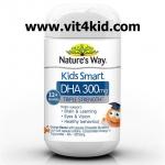 Nature's Way Kids Smart -Triple Strength DHA 300mg ขวด50แคปซูล รสส้ม DHAเข้มข้น3เท่า เสริมสร้างสมองและการเรียนรู้ (แนะนำ) exp.09/2020