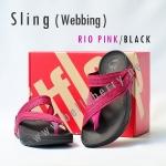 **พร้อมส่ง** รองเท้า FitFlop Sling (Webbing) : Rio Pink/Black : Size US 6 / EU 37