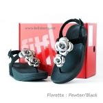 **พร้อมส่ง**FitFlop Floretta : Pewter/Black : Size US 9 / EU 41