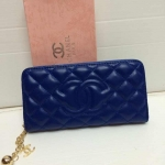 กระเป๋าสตางค์ Chanel มาใหม่ ซิปเดียว ตรงกลางโลโก้ใหญ่  ขนาด  4x7  นิ้ว
