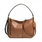 COACH MADISON TOP HANDLE IN LEATHER # 51900 สี Light Gold/Saddle