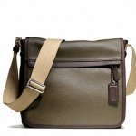 COACH MEN'S CAMDEN LEATHER MAP BAG # 70973