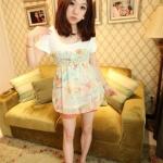 """""""พร้อมส่ง""""เสื้อผ้าแฟชั่นสไตล์เกาหลีราคาถูก เสื้อคอตตอนคอกลม แขนสั้น ตรงแขนแต่งเป็นโบว์ ต่อผ้าชีฟองลายดอกไม้ จั๊มอก มีซับใน น่ารักค่ะ -สีเขียว"""