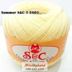 ด้ายถัก Summer S&C สีพื้น รหัส 5801