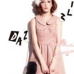 """""""พร้อมส่ง""""เสื้อผ้าแฟชั่นสไตล์เกาหลีราคาถูก Brand Cherry KOKO เดรสแขนกุดสีชมพู คอบัว ช่วงบนเป็นตาข่าย ซิปหลัง มีซับใน น่ารักค่ะ size M"""