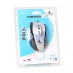 USB Optical Mouse I-CON (IC-26) Silver/Black
