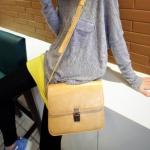 """""""พร้อมส่ง""""กระเป๋าแฟชั่น Maomao กระเป๋าสะพาย เรียบๆ สวย -สีครีม"""