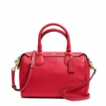COACH PEBBLED LEATHER MINI BENNETT SATCHEL # 36677 สี Classic Red