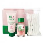 Etude House AC cleanup spot Planning pink powder set Spot: 15ml, Mask: 20ml, swabs: 30p