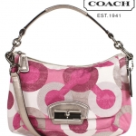 Coach 19942 Kristen Graphic Op Art Sequin East West Crossbody Bag # 19942