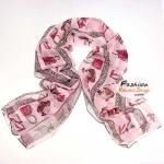 ผ้าพันคอลายสินค้าแฟชั่นเก๋ๆ Fashions : สีชมพู CK0370