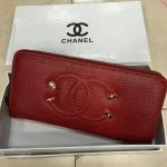 กระเป๋าสตางค์ Chanel มาใหม่แต่งโลโก้สวย ขนาด 4.5x7 นิ้ว ราคา 400 บาท สีแดง