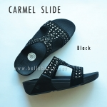 **พร้อมส่ง** FitFlop : CARMEL Slide : Black : Size US 8 / EU 39