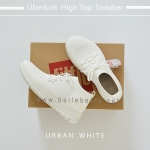FitFlop : Uberknit High Top Sneaker : Urban White : Size US 6 / EU 37