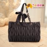 กระเป๋าแฟชั่นXiaoxiang กระเป๋าน่ารัก สายโซ่ ติดโบว์ -สีดำ
