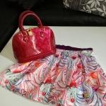 [[พร้อมส่ง]] Sretsis Soft Cream Skirts In Sweetness Aw 2012 กระโปรงสั้นทรงบานพิมพ์ลายเป็นเนื้อผ้า Satin 100% เนื้อหนาสวยงาน เป๊ะมากๆค่ะ