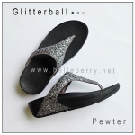 * NEW * FitFlop : GLITTERBALL : Pewter : Size US 8 / EU 39