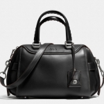 COACH ACE satchel in glovetanned leather # 37017 สี Lh/Black