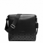 COACH SULLIVAN SMALL MESSENGER IN SIGNATURE # 72109 สี CHARCOAL/BLACK