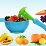 ชุดชาม บด อาหารเด็ก + ด้ามบดอาหาร สีฟ้า