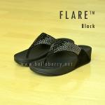 **พร้อมส่ง** รองเท้า FitFlop : F L A R E : BLACK : Size US 6 / EU 37