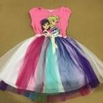 "size 12-14""พร้อมส่ง""เสื้อผ้าเด็กราคาถูก เดรสH&M ลายเอลซ่า สีชมพู-size 12-14"