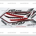 สติ๊กเกอร์ R15 ปี 2016 รุ่น 1 ติดรถสีขาว-แดง