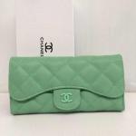 กระเป๋าสตางค์ Chanel มาใหม่ 3 พับแบบยาว งานสวยมาก ขนาด  4x 7.5  นิ้ว