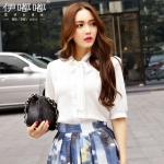 เสื้อชีฟองทำงานสาวอวบ มีให้เลือก2สี สีขาว/สีชมพู (XL,2XL,3XL,4XL,5XL) E3129
