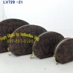 กระเป๋าสตางค์    Louis Vuiton    สีเทาปนม่วง ตามรูป  1 ชุด มี 4 ใบ