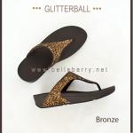 * NEW * FitFlop : GLITTERBALL : Bronze : Size US 5 / EU 36