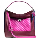 COACH PARK QUILTED COLORBLOCK HOBO # 24981