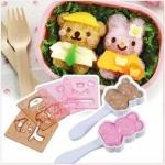 ชุดทำข้าวปั้น รูปหมีแพนด้า รูปกระต่าย