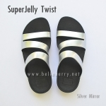 **พร้อมส่ง** FitFlop SUPERJELLY TWIST : Silver Mirror : Size US 6 / EU 37