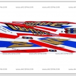 สติ๊กเกอร์ WAVE100 ปี 2004 รุ่น 3 ลายธงชาติ