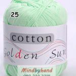 ไหมพรม Cotton 100% รหัสสี 25 Light Green